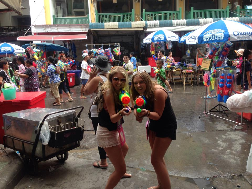 Two of my best travel girls & fellow Songkran buddies
