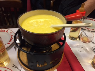 Cheese fondue in Paris