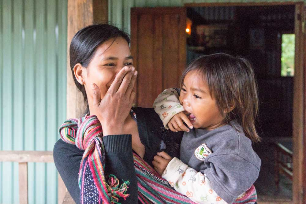 Local mother and daughter in Myanmar