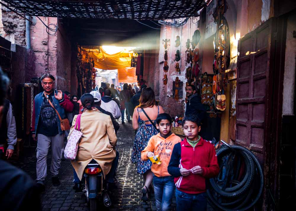 Marrakesh Souk market in Morocco