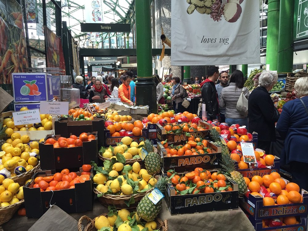 Fruit & Veg market in Borough, London