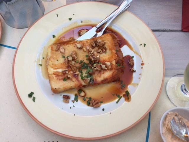 Saganaki Cheese in Greek Islands