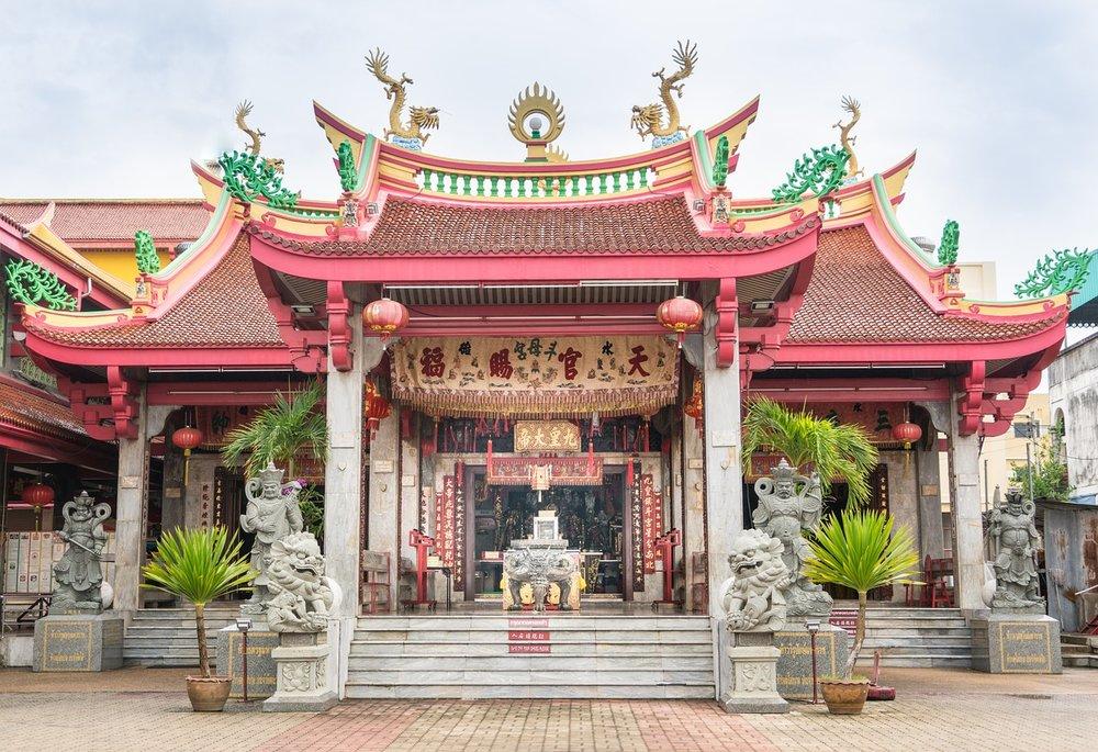Thai temple in Phuket, Thailand