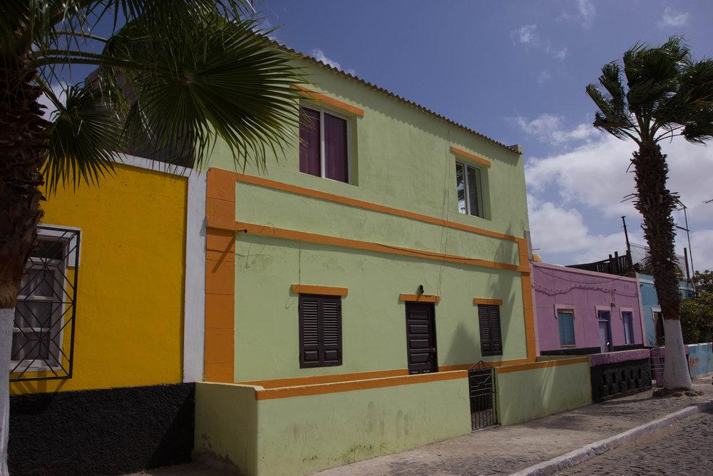 The colourful buildings of Santa Maria, Sal Island