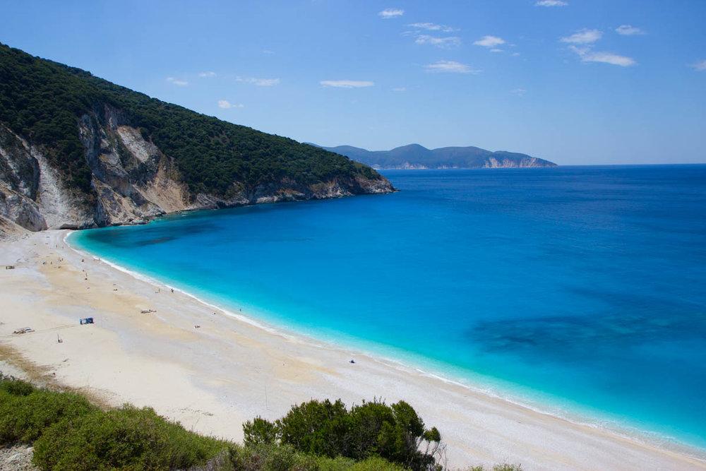 A world famous beach, named a Top 10 beach in 2016. Myrtos Beach.