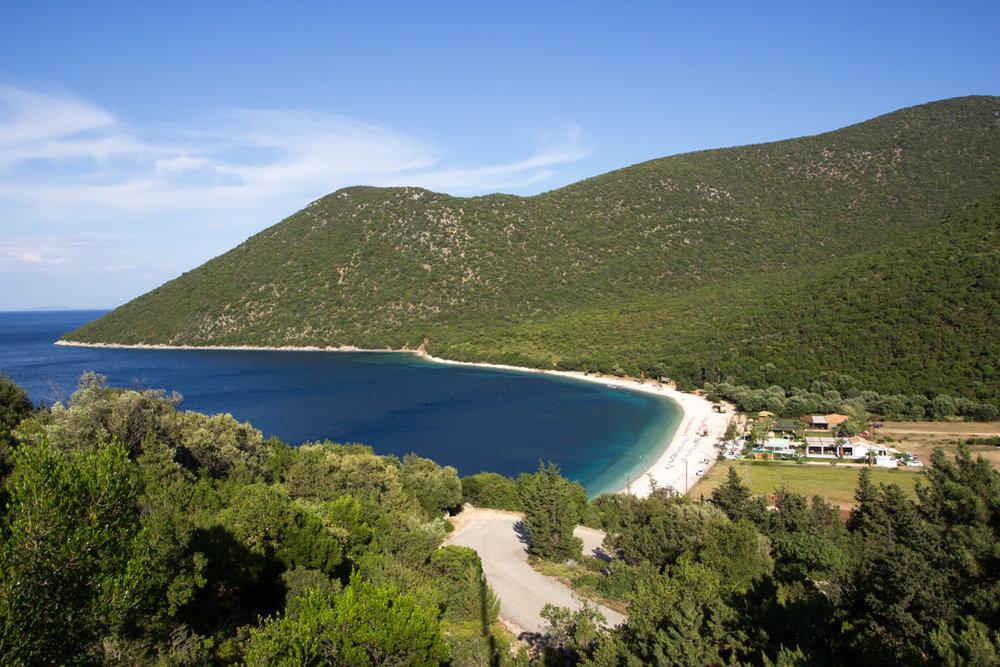 Views over Antisamos Beach