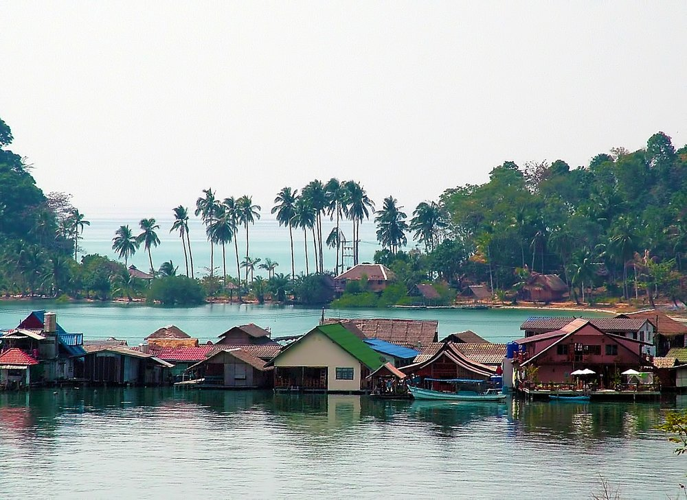 Houses on Inle lake in Myanmar, South East Asia