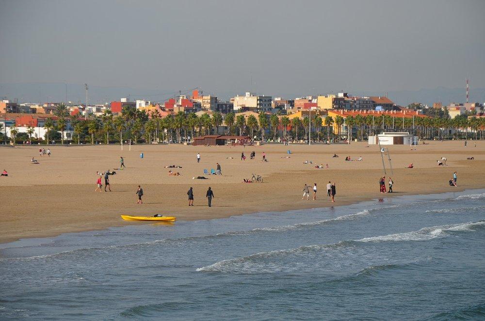 valencia beach in Spain