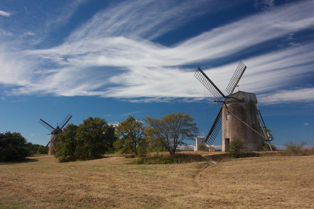 Windmills in Gotland, Sweden