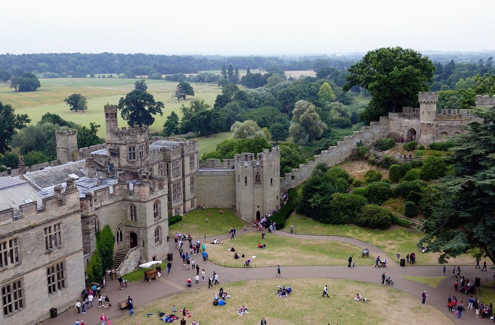Warwickshire castle in England