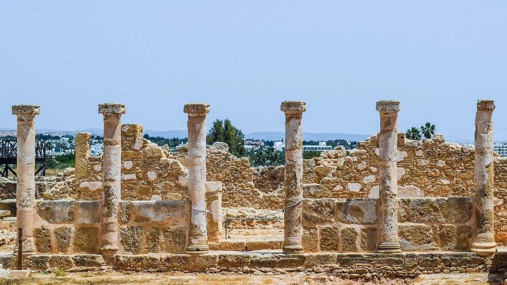 Greek ruins in Paphos, Cyprus