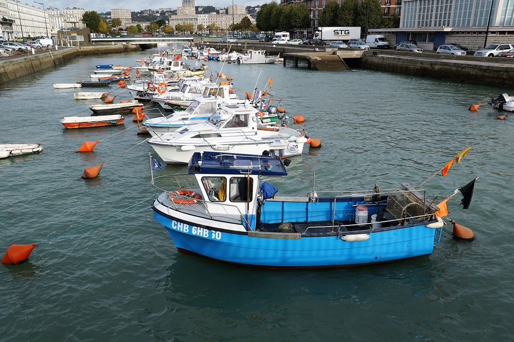 Le Havre river in France, Europe