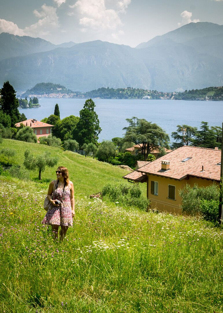 Meadow views on Lake Como