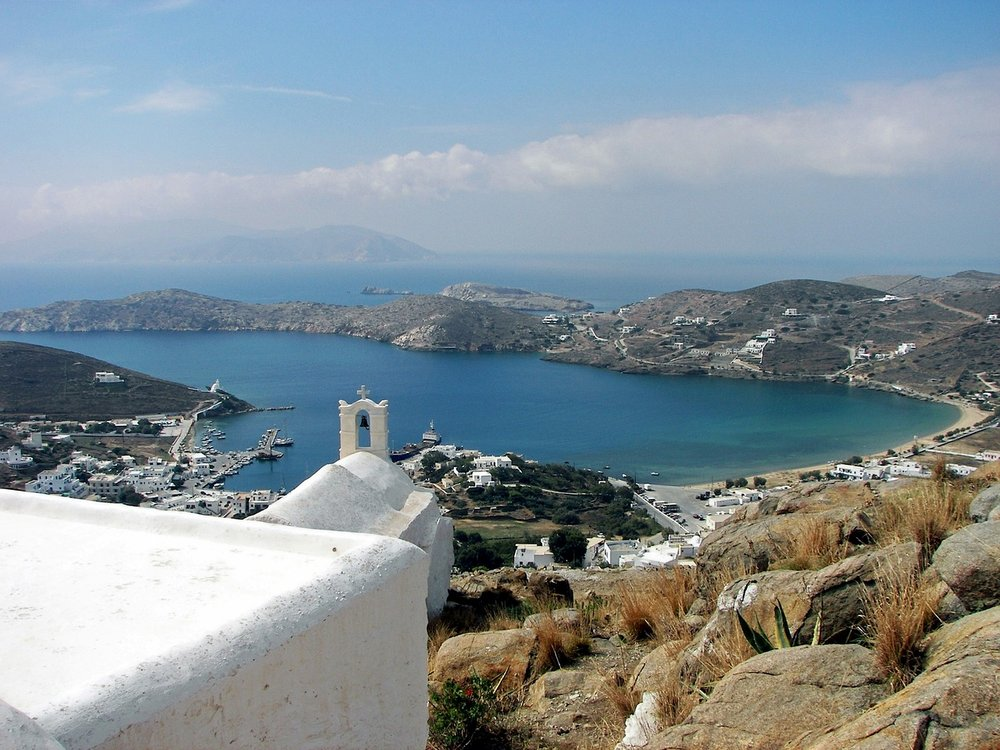 View of Ios Island in Greece