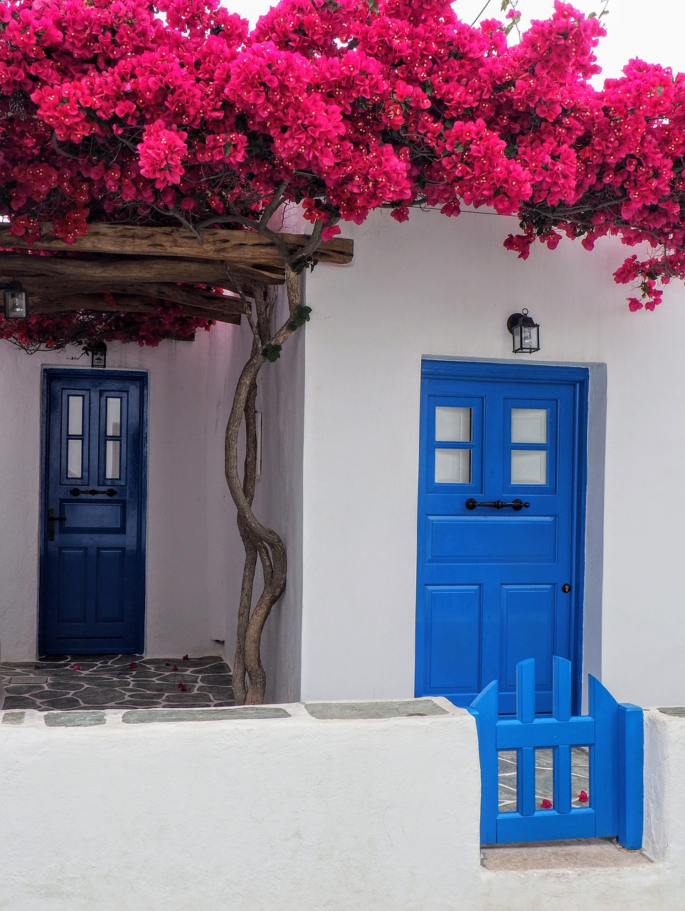 Doorway in Folegandros island in Greece