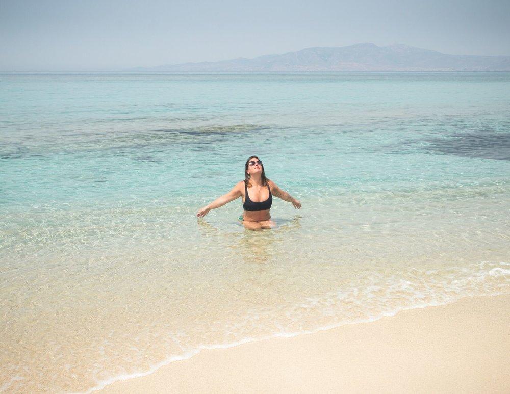 Gyflada beach on Naxos Island