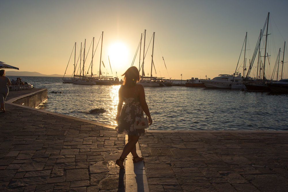 Exploring the harbour in Naxos Town