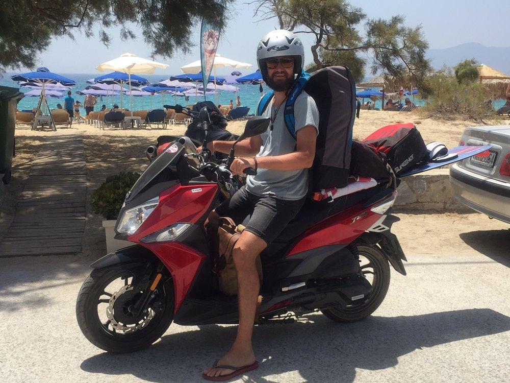 Biking around Naxos Island