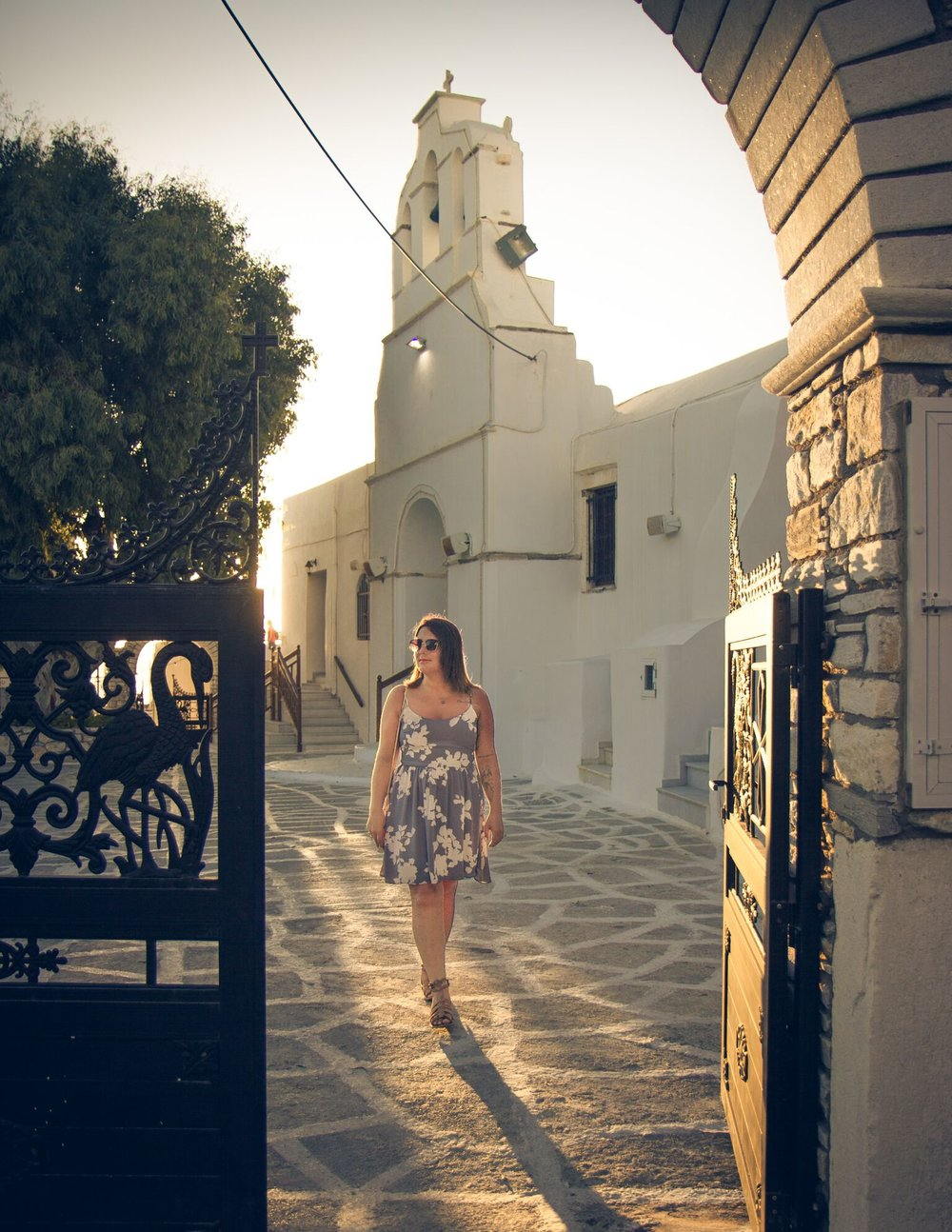 Naxos Town in Greece, Cyclades Islands