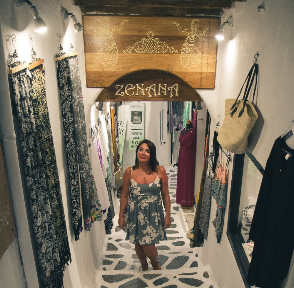 Take a hike or go shopping in Naxos Town