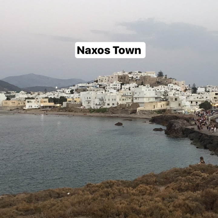 Whitewashed buildings in Naxos Town