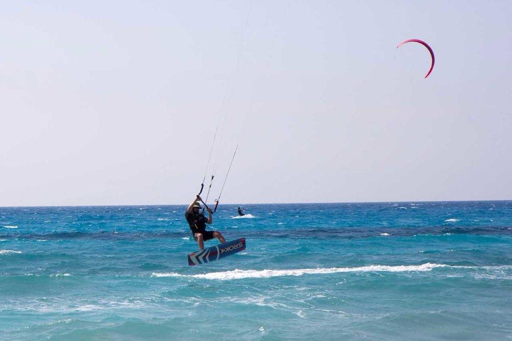 kitesurfing on Lefkada island