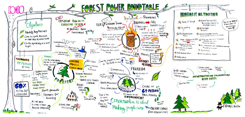 Key players from the UK forestry industry came together to voice their differing opinions on subjects relating to renewable forestry. This document was created to capture these ideas and narratives, to create further discussion, and to be presented to the UK government as part of a poposal on renewable forest power.