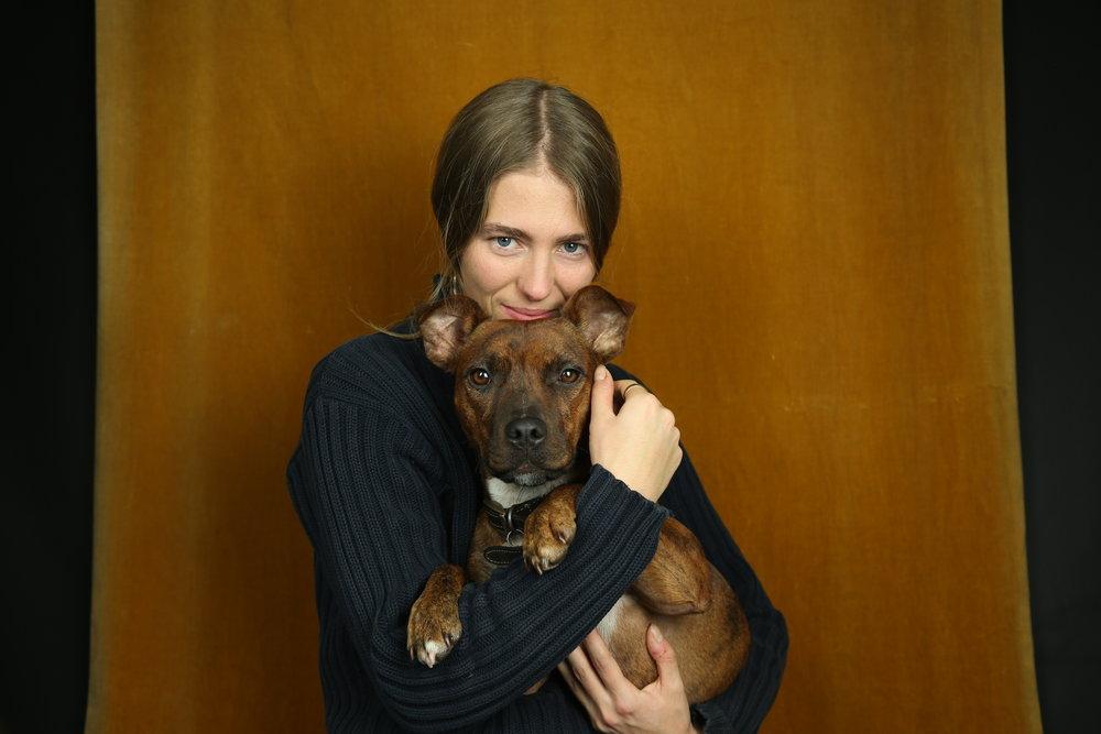 Samana - Photography - Rebecca with dog