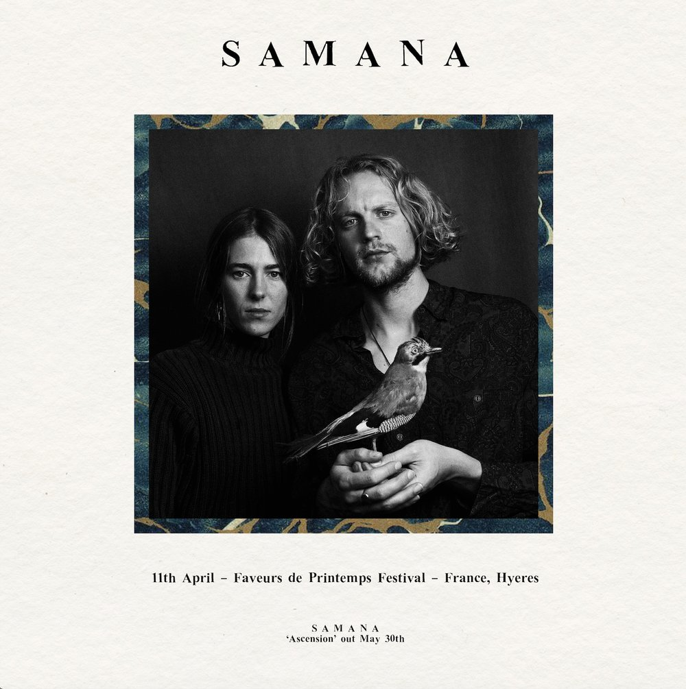 Samana, Samana music, Samana at Faveurs de Printemps Festival, Samana poster