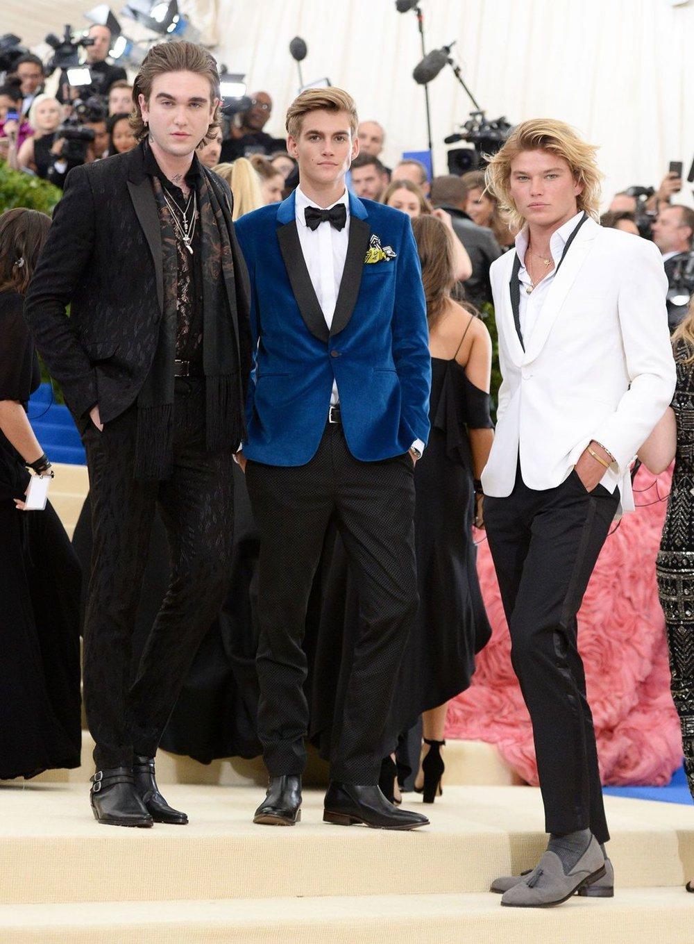 Gabriel-Kane Day-Lewis, Presley Gerber and Jordan Barrett all wearing Topman