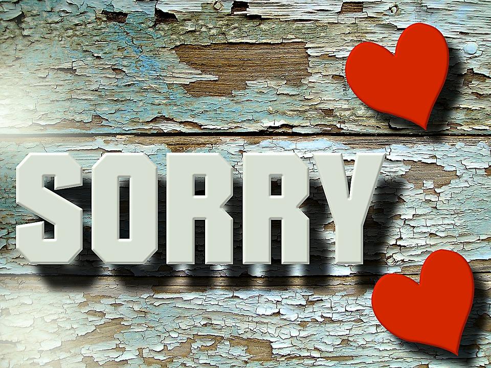 Ein echtes SORRY kann Herzen wieder zusammenführen. Es verbindet Wunden und lässt abgeblätterte Farbe als unwichtig erscheinen. Hauptsache die Liebe stimmt.