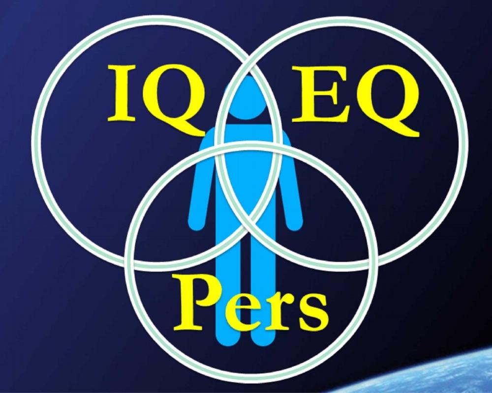 In der Realität ist der IQ-Kreis wohl der kleinste von allen; der EQ der grösste. Er prägt unsere Persönlichkeit, unseren Charakter, unser Temperament am meisten.