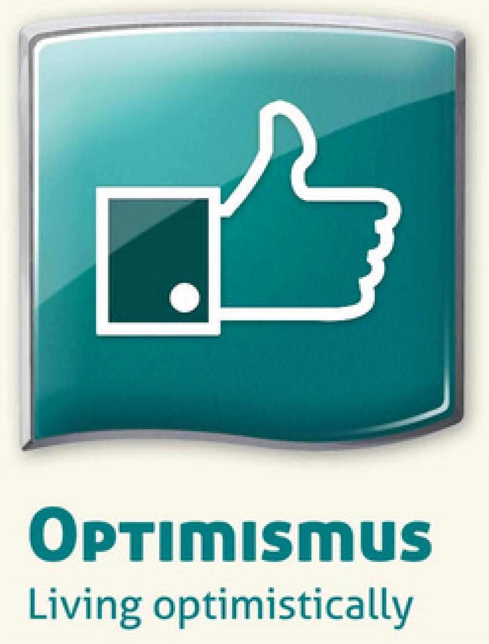 ....      «Du mit deinem Optimismus! Du hast gut reden!»      Ist Optimismus lediglich positives Reden, ein passives Schön-Wetter-Denken, ein Ausblenden von negativen Tatsachen?    Ein Optimist nimmt die Welt realistisch wahr, entscheidet sich aber auch angesichts des Negativen für den Glauben an das Gute. Er setzt seinen Willen ein, um immer mit dem Guten Hand in Hand zu arbeiten. Das setzt ungeahnte Kräfte frei.     ..     «You and your optimism! Easy for you to say!»      Is optimism just positive talk? A passive, fair-weather attitude? A way of filtering out negative facts?    An optimist sees the world realistically, but chooses to believe that good will prevail, in spite of obvious and towering obstacles. He or she decides to throw in his or her lot with and work on the side of good. In so doing, seemingly impossible feats suddenly become possible.    ....