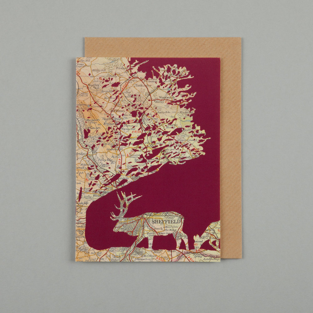 DEER & OAK, BURGUNDY