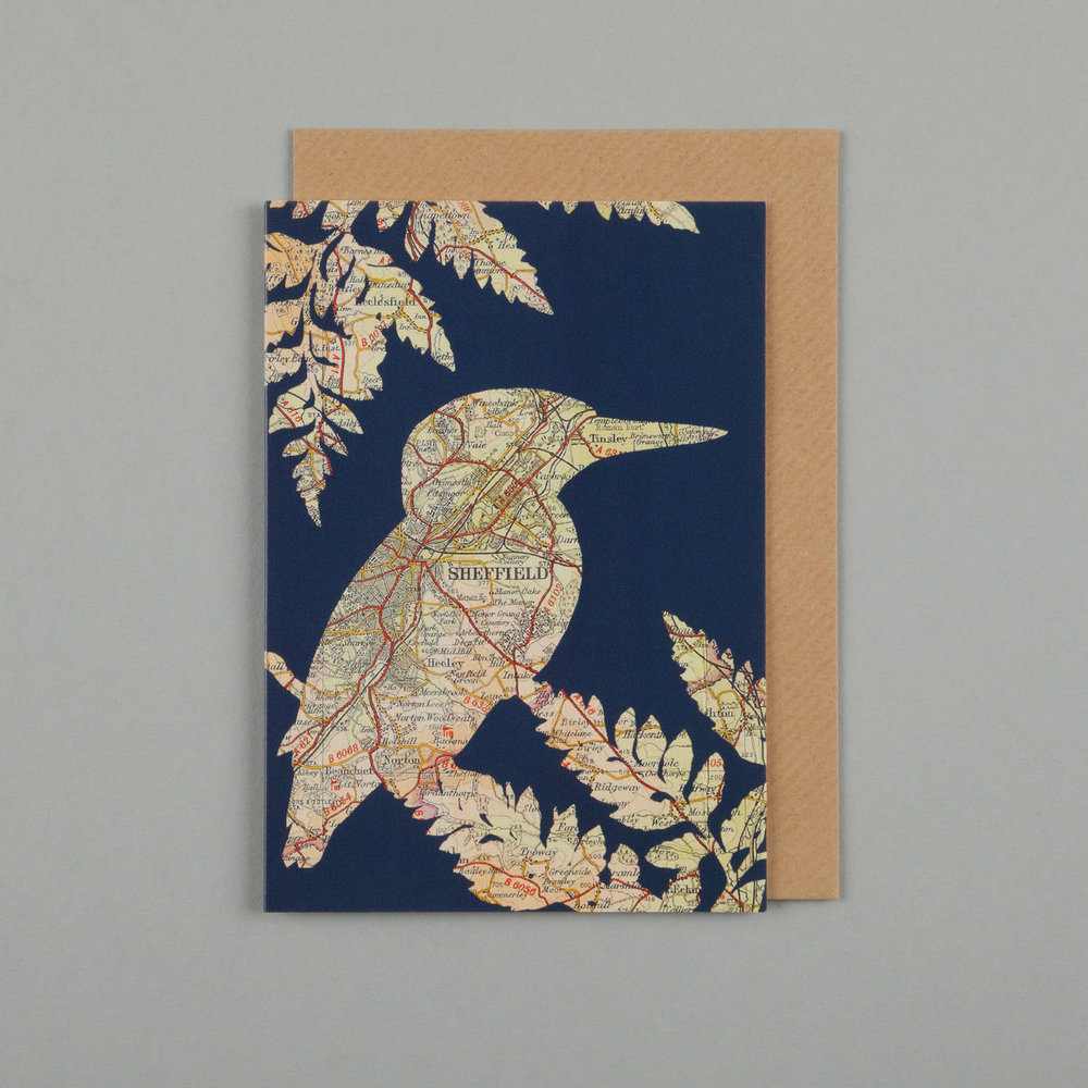 KINGFISHER & FERN, NAVY