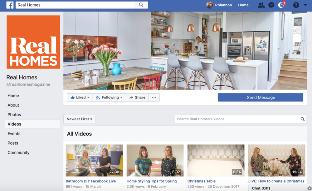 Facebook Live Video for  Real Homes  (February 2018)