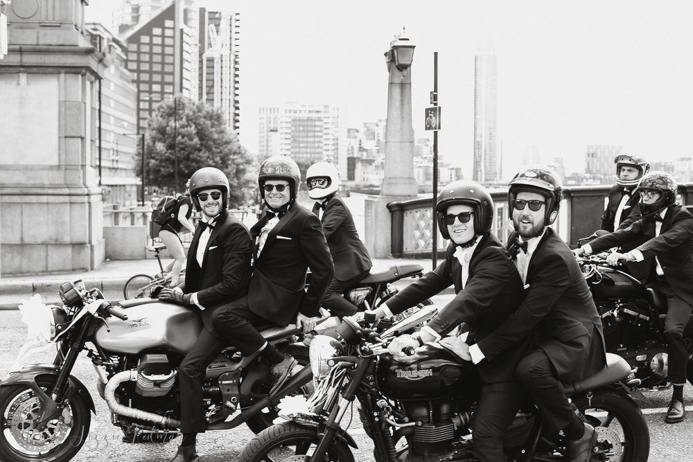 Moto Guzzi wedding photos