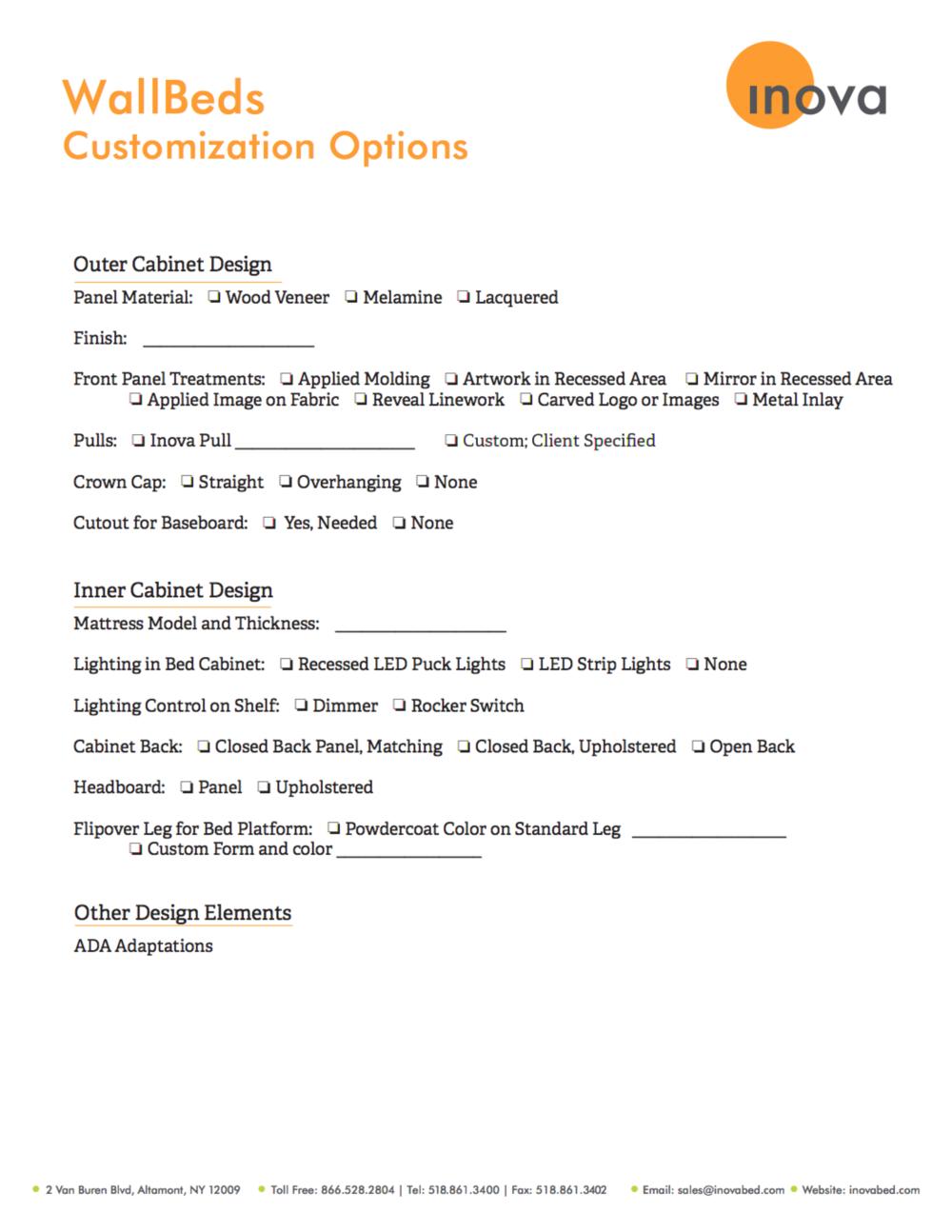 WallBeds: Customization Options