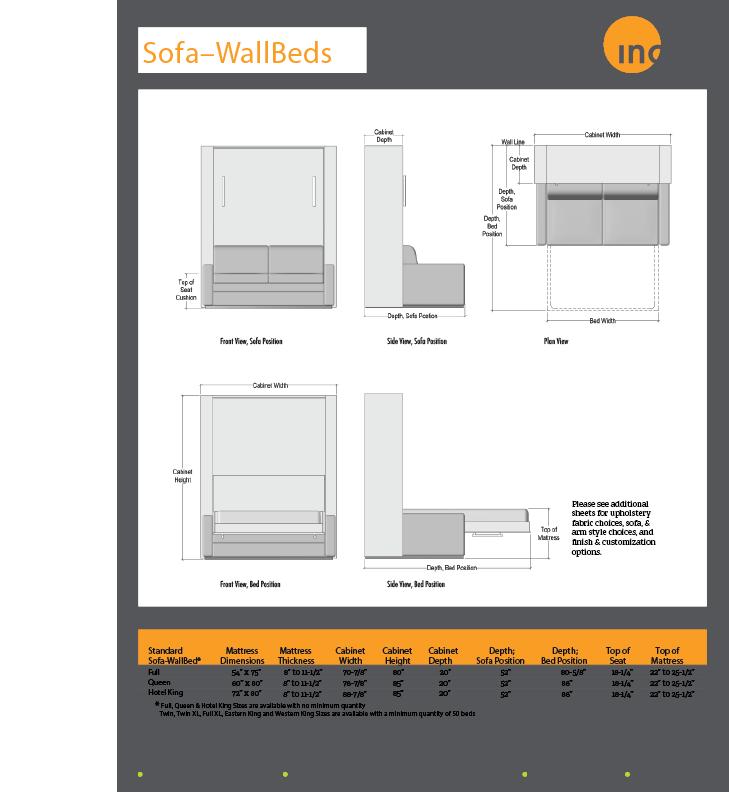 Standard Sofa-WallBeds