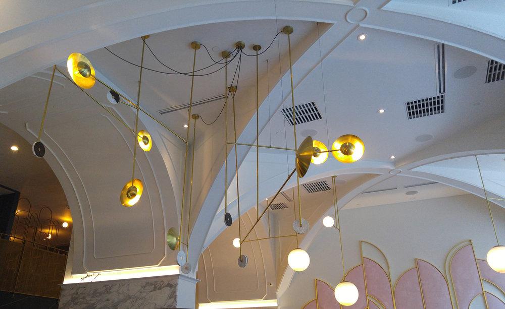 Oretta Restaurant King St - light feature element