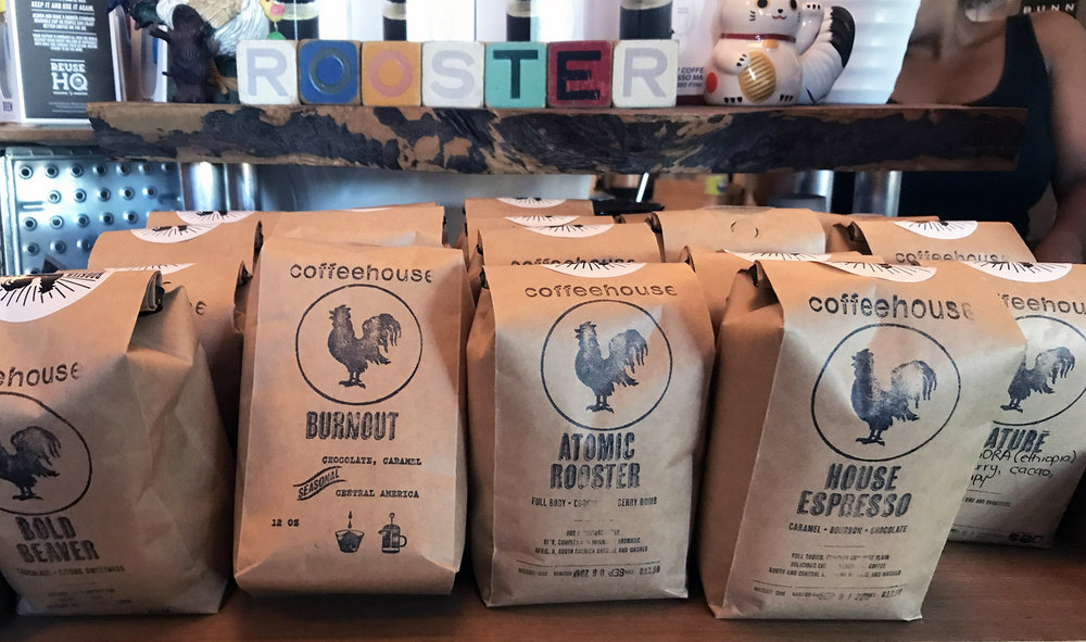 Rooster Coffee House Bags