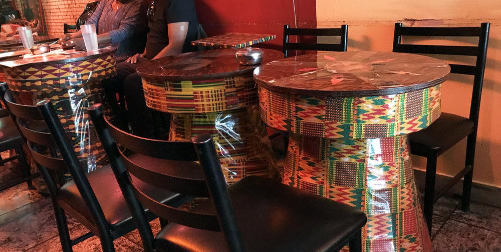 Rendez-Vous Ethiopian Restaurant - Drum Tables