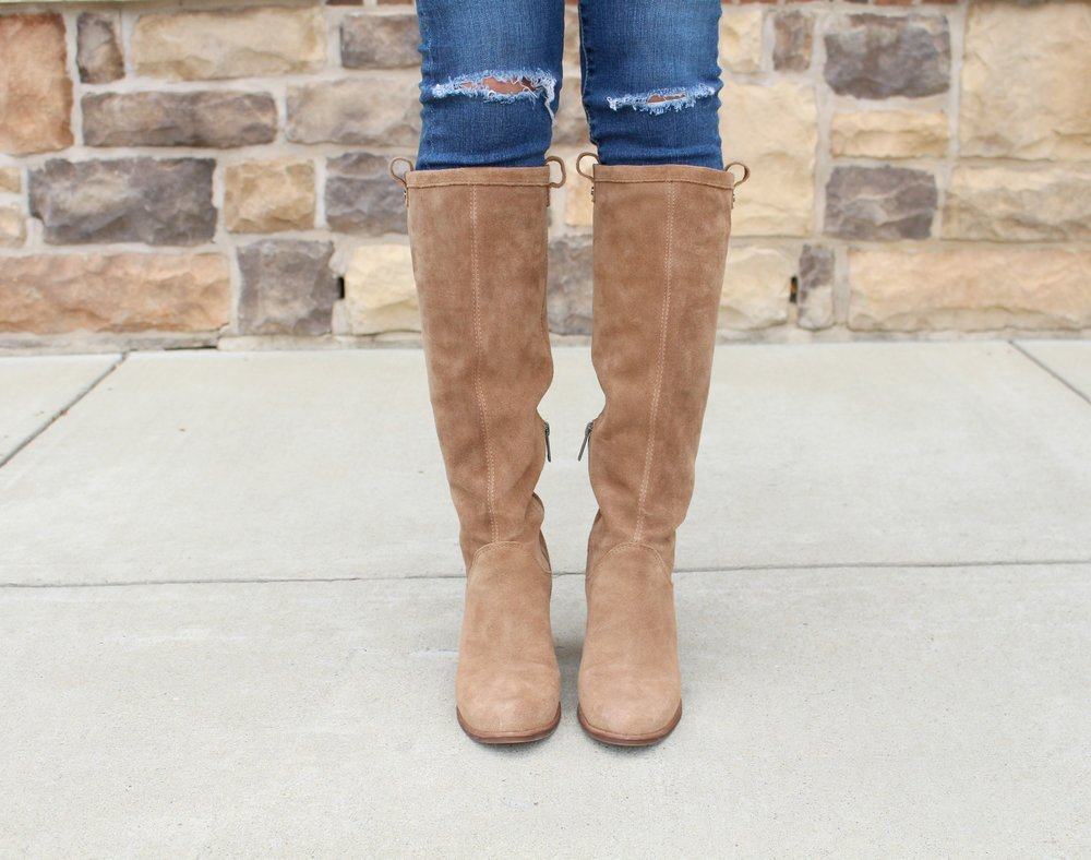 Sweater: J.Crew Factory (Similar) in Warm Ivory | Boots: Ugg Ava Boot | Jeans: AG 'The Legging' Ankle Jeans | Watch: Kate Spade 'Gramercy