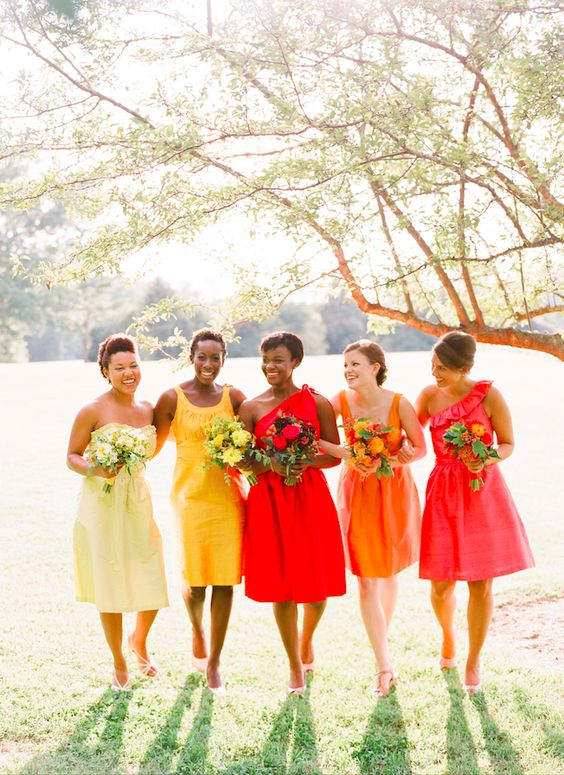A Good Place To Start Introducing Lots Of Lovely Colours Is With The Bridal Party Creating Vibrant Background Highlight Special Couple Psst