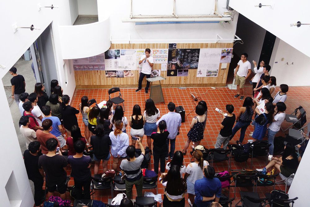 CUHK students exchanging ideas on collective housing