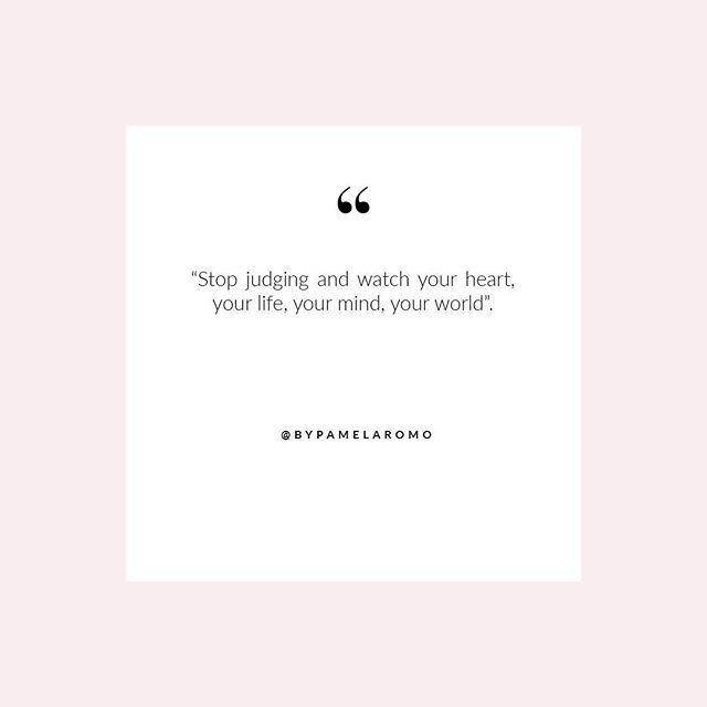 Cuanto MÁS criticas a las personas, cuanto MÁS juzgas, MÁS pequeño te haces y MENOS sumas al mundo. Enfócate en ti! • The more you judge and criticize others the smaller you become and the less you give to the world so better focus on yourself!
