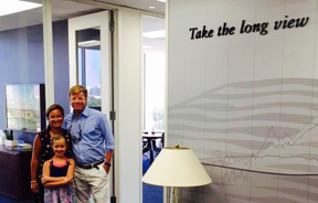 Lisa, Harper and Matt at the Houston Office of Hill Investment Group
