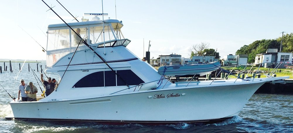 Miss stella charter for Chincoteague fishing charters