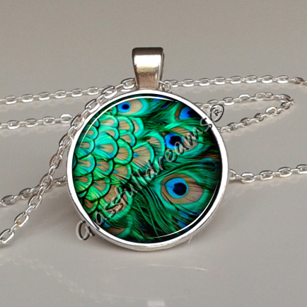 product stainless steel peacock by pendant feather dimensionals printed