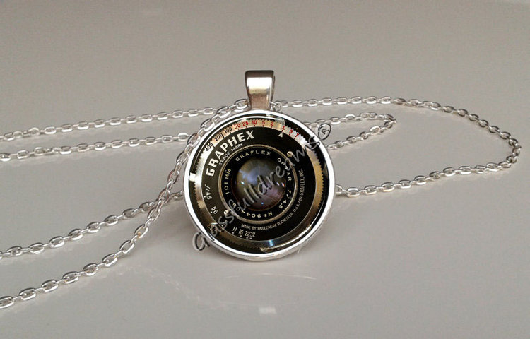 Vintage camera lens pendant glassfulldreams shop handmade vintage camera lens pendant mozeypictures Image collections